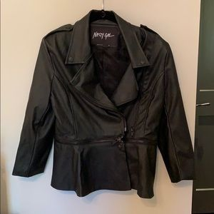 Nasty Gal Faux Leather Jacket